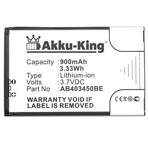Akku-King Akku für Samsung SGH-E590 M3510 S3500 E790 E598 ersetzt AB403450BE, DE Li-Ion