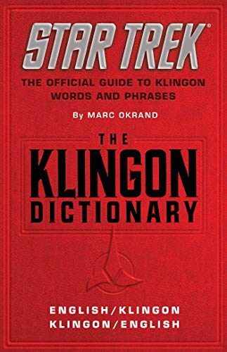 Klingon Dictionary: English/Klingon, Klingon/English (Star Trek (trade/hardcover))