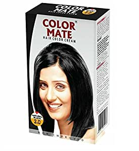 Color Mate Hair Color Cream, Natural Black, 130ml (Pack of 2)