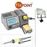 2-teiliger Set : Fixpoint Digitale Lötstation mit 3.Hand/Löthilfe; Lötstation mit Lötkolben, Ständer und Schwamm; 48W; 450°; LCD Display beleuchtet; Lötkolben abschraubbar; extrem Kurze Aufheizzeit