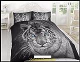 Funda nórdica tigre 3d efecto colcha ropa de cama y juego de sábanas, doble