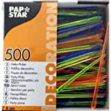 500 Deko-Picker 8 cm farbig sortiert