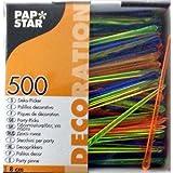 "500 Deko-Picker 8 cm farbig sortiert ""Drop"""