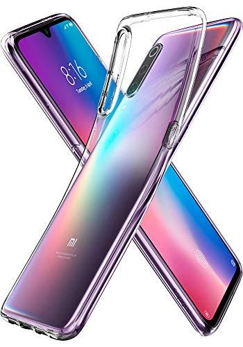 Spigen Coque Xiaomi Mi 9 [Liquid Crystal Fit] Transparent, Ultra Mince, Silicone, Souple, Coque Housse Etui pour Xiaomi Mi 9 - Transparent