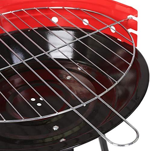 JUINSA Standard–Grill, 34x 12x 55cm, Rot und Schwarz