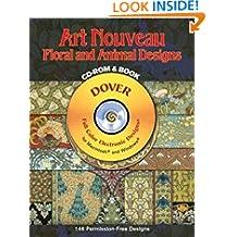 Art-Nouveau Floral and Animal DES CD (Dover Electronic Clip Art)
