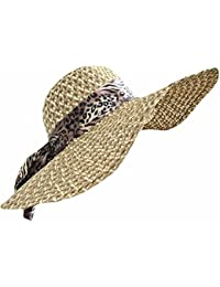 TOSKATOK Ladies Wide Brimmed Floppy Straw Hat