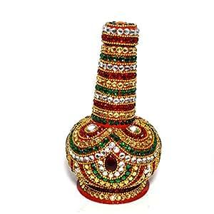 Beautifully Designed Mukhwas Bottle of Steel Decorated With Kundan Work