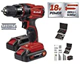 Einhell tc-cd 18 – 2 LI RECHARGEABLE DRILL WITH CASE RED/BLACK, red, TC-CD 18-2 Li Kit, 18 voltsV
