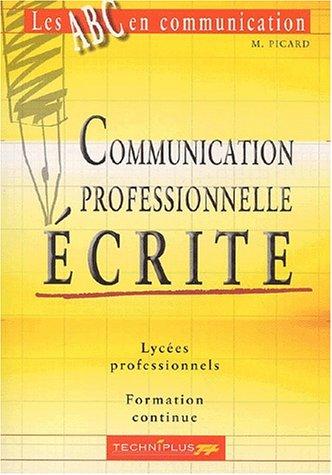 Communication professionnelle écrite