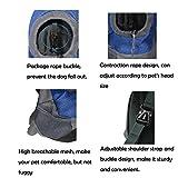AsiaLONG Hundetasche Rucksack Atmungsaktive Haustier Rucksäcke mit Straps Netzfenster Hundetragetaschen für Kleine Hunde und Mittelgrosse Hunde Reise Umhängetasche (S, Blau) - 4