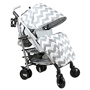 My Babiie Billie Faiers MB51 Grey Chevron Stroller   11