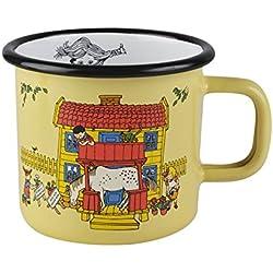 "Pippi Longstocking 3,7 dl ""Villa Vellekulla"" taza esmaltada, amarillo"