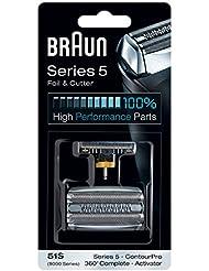 Braun Scherkopf Kombipack 51S, für Braun Rasierer, silber