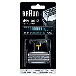 Braun 51S  Electric Shaver Replacement Foil and Cutter - Silver