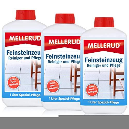 3x Mellerud Feinsteinzeug Reiniger und Pflege 1L (Feinsteinzeug-reiniger)