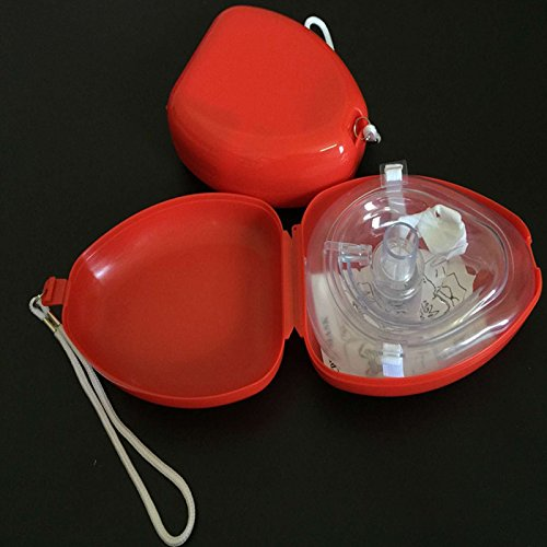 Erwachsene/Kind Erste Aids Beatmungsbeutel Rescue Pocket CPR Maske mit Einwegatemventil Not Selbstrettung Werkzeug