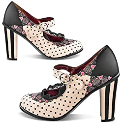 Hot Chocolate Design Chocolaticas Doris Tacon Mary Jane para Mujeres HCD 41