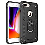 Funda iPhone 8 Plus,Funda iPhone 7 Plus,Funda iPhone 6 Plus,Caja El Soporte Incorporado A Prueba de Golpes Anti-Arañazos Armadura Proteccion Cover Case para iPhone 8 Plus / 7 Plus / 6 Plus (Negro)