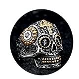 DOLOVE Edelstahl Ring Herren Punk Masonic G Freimaurer Freundschaftsring Silber Ring Größe 65 (20.7)