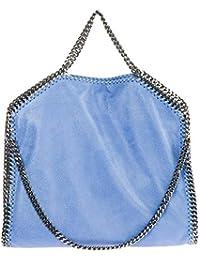 Stella McCartney borsa a mano Falabella Fold Over donna azzurro 60c134bab92