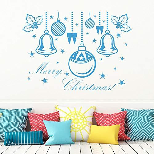 Shentop Frohe Weihnachten Schneeball Removable Home Vinyl Fenster Wandaufkleber Dekor 1 41cm x 57cm