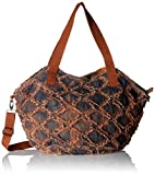 Sansibar Damen Zip Bag Henkeltasche, Braun (Rust),25x28x31 cm