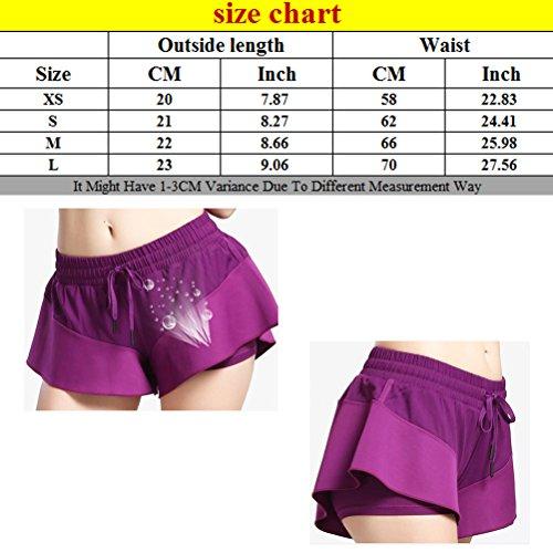 Zhhlaixing Casual Women Sports Fitness yoga Skirt pants Hot Hips Beach Shorts LWQ-0138 Black