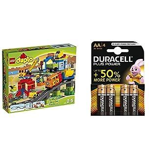 LEGO Duplo 10508 Set Treno Deluxe + Duracell Plus Power Batterie Alcaline, Stilo AA, Confezione da 4 (B078966VHK) | Amazon price tracker / tracking, Amazon price history charts, Amazon price watches, Amazon price drop alerts