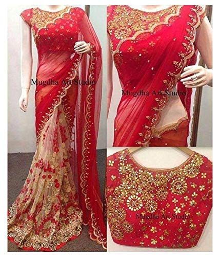 Vardani garment Saree For Women Party Wear Half Sarees Offer Designer Below 500 Rupees Latest Design Under 300 Combo Art Silk New Collection 2018 In Latest With Designer Blouse Beautiful For Women Par