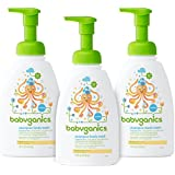 Babyganics Baby Shampoo + Body Wash, Fragrance Free, 16oz Pump Bottle (Pack of 3)