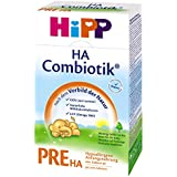 Hipp Pre HA Combiotik, hypoallergénique pour nourrissons - de la naissance, 4-pack (4 x 500g)