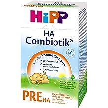Hipp Pre HA Combiotik, hipoalergénico Fórmula infantil - desde el nacimiento, 4-pack (4 x 500g)
