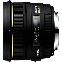 Sigma 50mm f1.4 EX DG HSM CAF - Objetivo para Canon (distancia focal fija 50mm, apertura f/1.4, filtro 77 mm) color negro [importado]