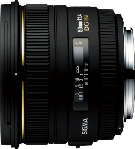 Sigma 50mm F1,4 EX DG HSM Objektiv (77mm Filtergewinde) für Canon - 50 Mm Sigma-objektiv