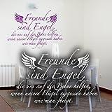 """Die besten Freund-Zitat auf Leinwand - Wandkings Wandtattoo """"Freunde sind Engel, die uns auf Bewertungen"""
