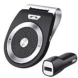 Bluetooth 4.1 Kfz Freisprecheinrichtung Auto Kfz Bluetooth Auto Freisprechanlage Visier Car Kit mit Mikrofon, Unterstützt iPhone7/6/6s plus/ Samsung für 2 Telefone gleichzeitig - Wireless Sun Visor Speakerphone