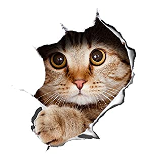 Alicemall 3D Cute Cat Wall Stickers Mouse Pad Sticker DIY Wall Sticker Kid Room Decors 11.8 * 9.8inch