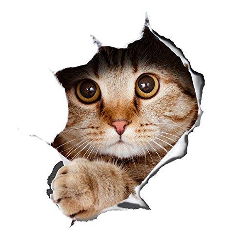 Preisvergleich Produktbild Alicemall Wandaufkleber Katze Wandaufkleber Zimmer Mauspad Wanddekoration Kinderzimmer