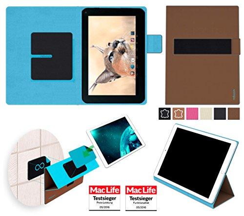 reboon Hülle für Blaupunkt Endeavour 1001 DVBT Tasche Cover Case Bumper | in Braun | Testsieger