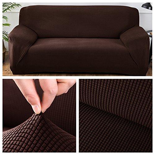 Hsgz antivegetativa fodera per divano salotto, resistente all'usura divano copertina,bianco e nero antisdrucciolo divano copertina-e 235x300cm(93x118inch)