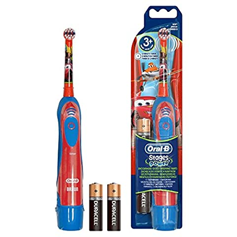 Braun Oral B Advance Power Kids Battery Operated Toothbrush - Disney Cars(PACK OF 2)