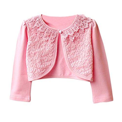 Ourlove Fashion Girls' Long Sleeve Lace Bolero Cotton Cardigan Shrug For Dance Dress Up