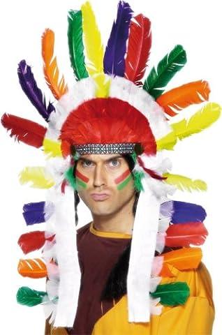 Smiffys, Unisex Indianer Kopfschmuck, One Size, Bunt, 95317 (Indian Chief Kostüm Zubehör)