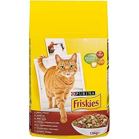 Friskies croquettes chat adulte 7,5kg Prix Unitaire - Envoi Rapide Et Soignée