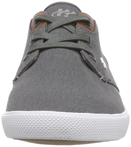 Boxfresh Stern Icn Wxd Cnvs/Sde Gry/Wht, Baskets Basses homme Gris - Gris/blanc