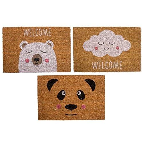 Felpudos Originales  con diseño infantil 40X60 cm (Panda)
