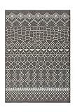 Kayoom MUSTER BEIGE TEPPICHE OUTDOOR AZTEKEN DESIGN TEPPICH ELFENBEIN, Größe:80cm x 150cm