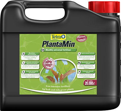 Tetra PlantaMin Universaldünger (flüssiger Eisen-Intensivdünger für prüchtige und gesunde Wasserpflanzen, wirkt bis zu 4 Wochen), 5 Liter Flasche - Flasche Schütteln