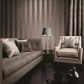 luxus metallic gold und braun strukturierte streifen tapete home raum wand papier rollen f r. Black Bedroom Furniture Sets. Home Design Ideas